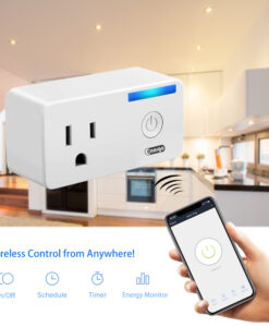 Onaigo Smart Wi-Fi Plug Outlet (With Timer and Energy Monitoring)